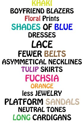 Corporate Fashionista's Spring Summer 2010 Trend List