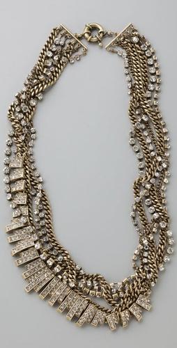 rhinestonechainnecklace