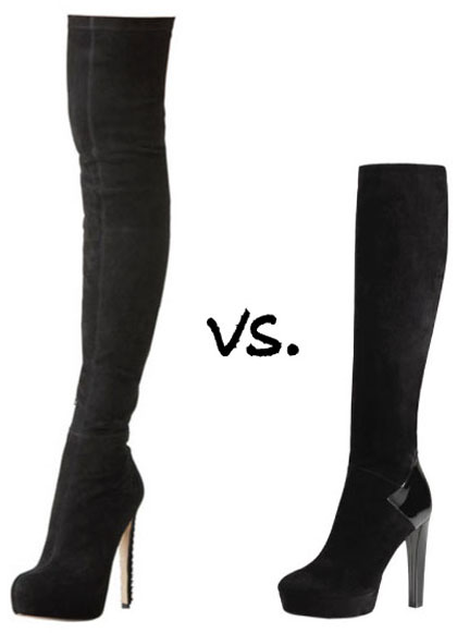 Boots: Over-the-Knee vs. Knee-High