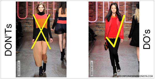 Colour combination in fashion