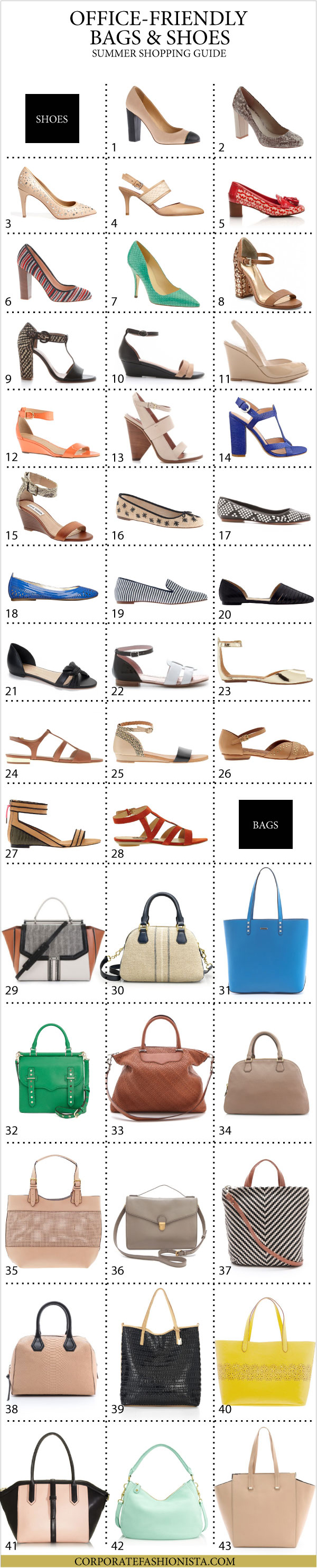 The Ultimate Summer Bag And Shoe Shopping Guide For Professionals List | CorporateFashionista.com
