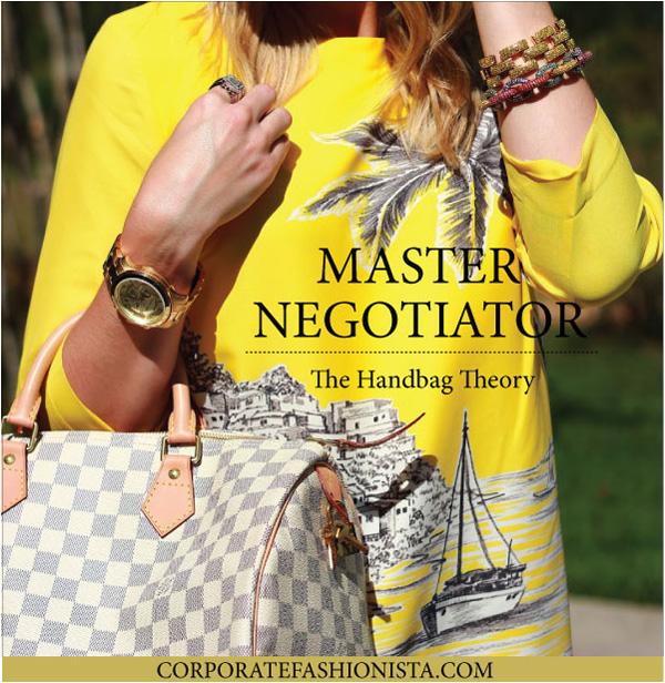 How To Become A Master Negotiator Using Heidi Roizen's Handbag Theory | CorporateFashionista.com