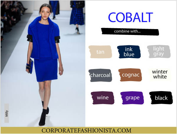 Color Coordinate Your Fall Wardrobe Like A Pro | CF's Color Compatibility Charts - Cobalt | CorporateFashionista.com