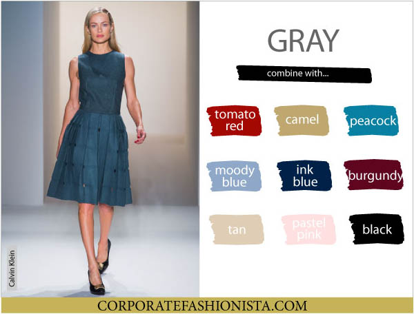 Color Coordinate Your Fall Wardrobe Like A Pro | CF's Color Compatibility Charts - Gray | CorporateFashionista.com