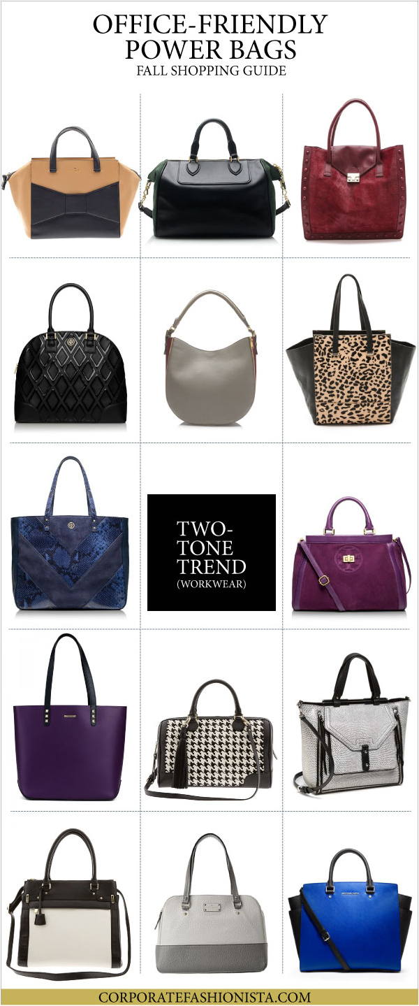 Power Bags: A Career Girl's Fall Guide - Two-Tone Collection | CorporateFashionista.com