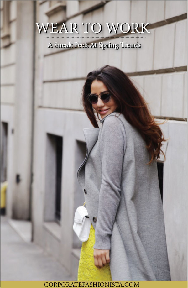 How To Sneak Spring Trends Into Your Winter Work Wardrobe | CorporateFashionista.com